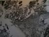 Der Englische Kanal, 1992, Tusche auf Papier, 300x160cm