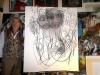 Der Frühling (Entstehungsphase), 2017, Kohle auf Leinwand, 120x140cm