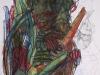 Der Gitarrenspieler, 2017, Tusche/Ölkreide auf Papier, 60x80cm