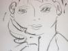 Portraitzyklus: Bildnis des Sohnes des Künstlers, 2013, Kohle auf Papier, 30x40cm