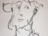 Portraitzyklus: Mann mit Hut, 2016, Kohle auf Papier, 30x40cm