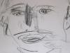 Portraitzyklus: Portrait eines Künstlers III, 2017, Kohle auf Papier, 30x40cm