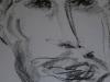 Portraitzyklus: Portrait eines Künstlers II, 2017, Kohle auf Papier, 30x40cm