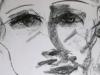 Portraitzyklus: Portrait eines Künstlers IV, 2017, Kohle auf Papier, 30x40cm