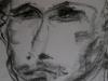 Portraitzyklus: Portrait eines Künstlers I, 2017, Kohle auf Papier, 30x40cm