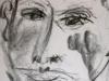 Portraitzyklus: Portrait eines Künstlers VI, 2017, Kohle auf Papier, 30x40cm