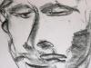 Portraitzyklus: Portrait eines Künstlers V, 2017, Kohle auf Papier, 30x40cm