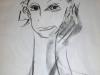 Portraitzyklus: Tanja III, 2017, Kohle auf Papier, 40x50cm