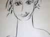 Portraitzyklus: Tanja II, 2017, Kohle auf Papier, 40x50cm