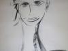Portraitzyklus: Tanja I, 2017, Kohle auf Papier, 40x50cm