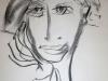 Portraitzyklus: Tanja mit Hut, 2017, Kohle auf Papier, 40x50cm
