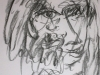 Portraitzyklus: Ulrike, 2017, Kohle auf Papier, 30x40cm