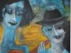 Das Zigeunerpaar, 2012, Öl/Acryl auf Faserplatte, 77x96cm