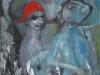 Der alte Mann und der Zigeunerknabe, 2012, Öl auf Leinwand, 80x80cm