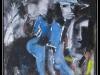 Das Selbstbildnis in einer zerissenen Welt, Mischtechnik auf Leinwand, 95x110cm