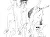 Der Gitarrist und der Flamencoengel, Tusche auf Papier, 40x60cm
