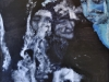 Ohne Titel II, Acryl auf Faserplatte, 90x100cm