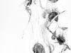 Ohne Titel IV, Tusche auf Papier, 40x60cm