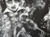 Ohne Titel XIII, Acryl auf Faserplatte, 95x110cm