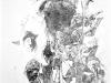 Ohne Titel XII, Tusche auf Papier, 70x100cm