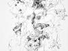 Ohne Titel XI, Tusche auf Papier, 40x60cm