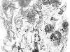 Ohne Titel XV, Tusche auf Papier, 70x100cm