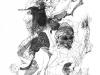 Ohne Titel XXIV, Tusche auf Papier, 50x70cm