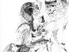 Ohne Titel XXV, Tusche auf Papier, 50x70cm